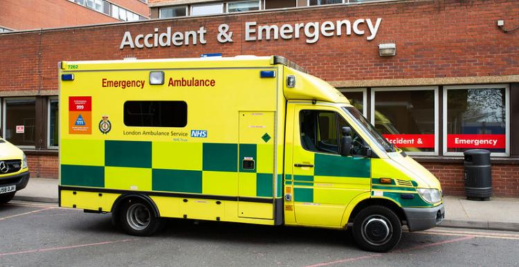 Image of ambulance outside A&E