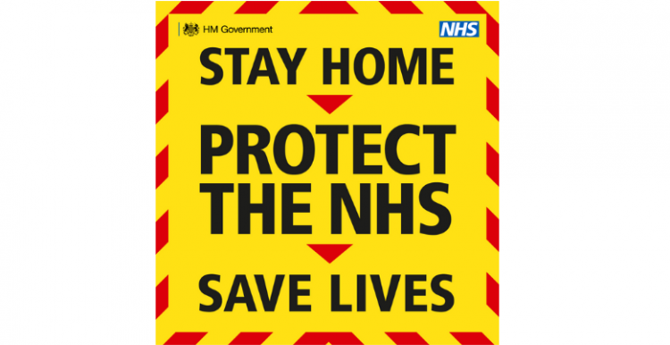 Government promotional materials on Covid-19 - stay at home, protect the NHS, save lives