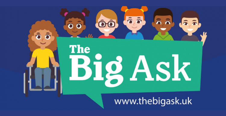 Logo for Big Ask saying speak up