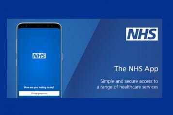 Image of NHS App on a mobile phone